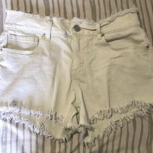 Off white denim shorts